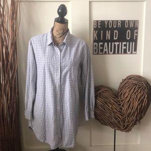 Gilligan &O'Malley gray checkered nightshirt